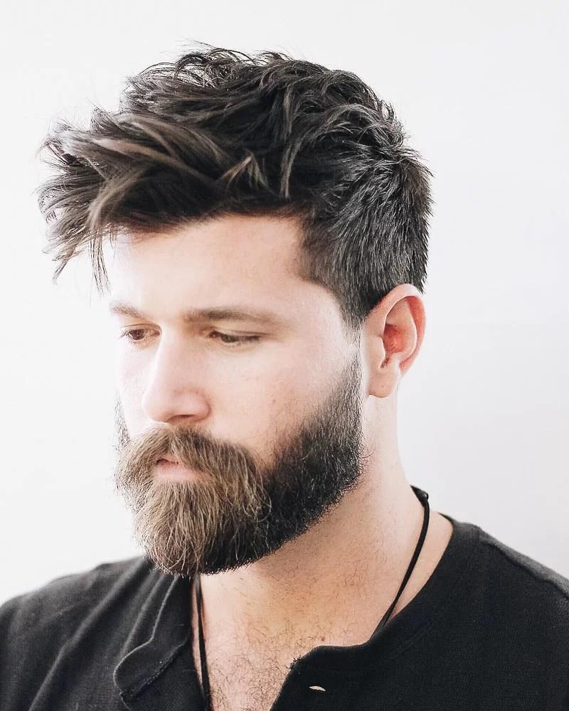 best medium length hairstyles men blowout - Luxe Digital