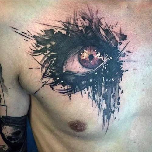 tatouage poitrine homme