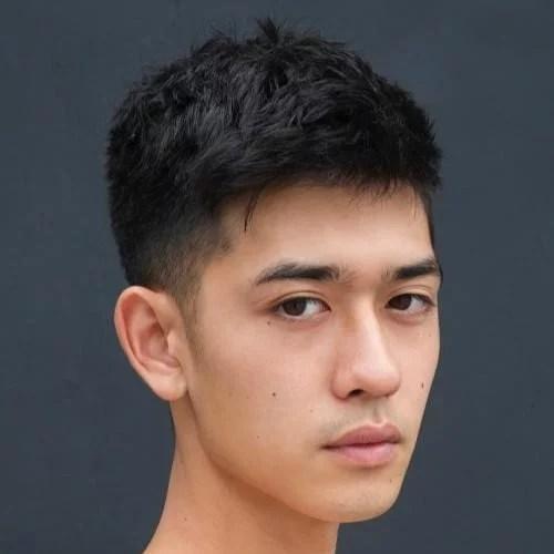idées de coupes et coiffures pour Homme Asiatique 2