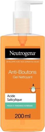 Neutrogena Anti Boutons Gel Nettoyant Visage a lAcide Salicylique