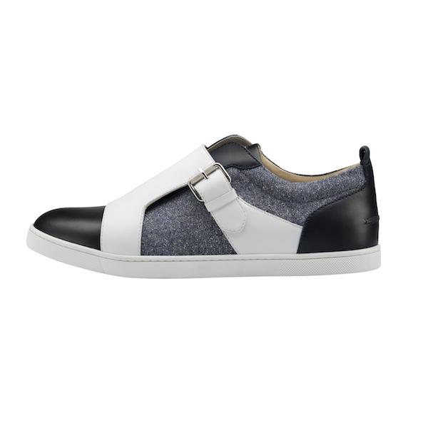 Christian Louboutin Discretos Flat Jeans Tweed Multi