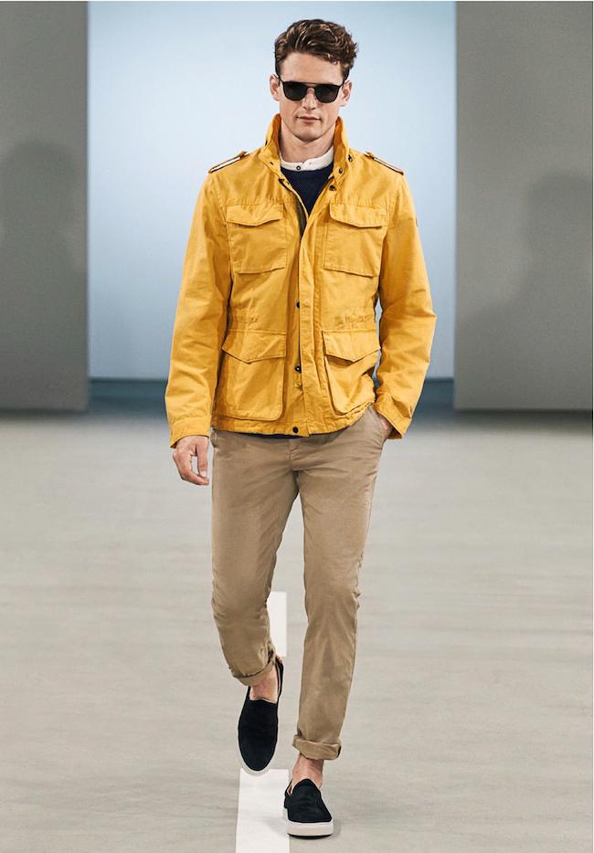 Marc O'Polo veste militaire de couleur jaune