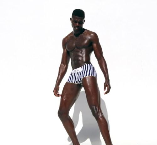maillot de bain homme Rufskin à rayures