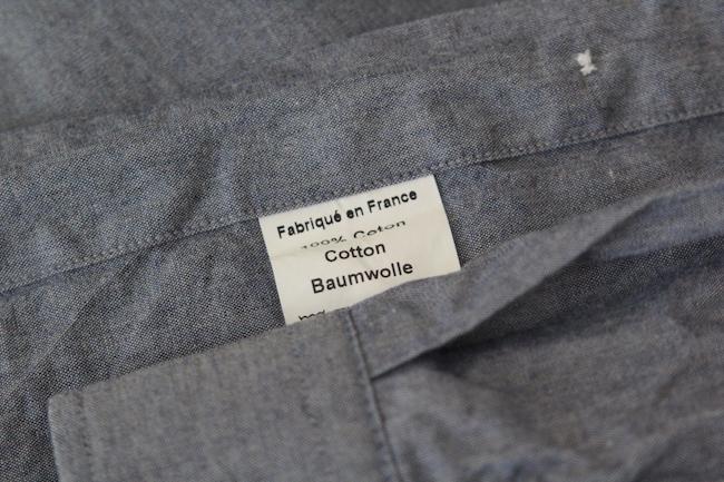 chemise fabriqée en France