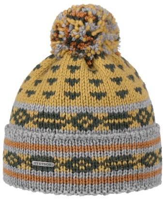 Stetson bonnet jacquard à pompon