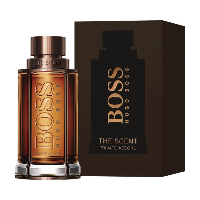 The scent private accord for him de Boss
