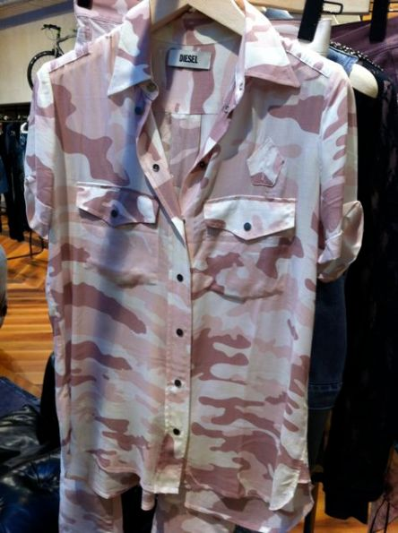 Diesel chemisette camouflage army