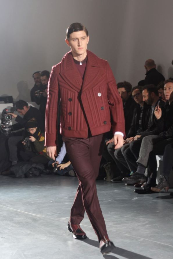 wooyoungmi homme hiver 2013 blouson rouge