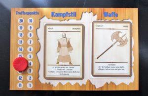 Charaktertafel von Festedruff: Mönch mit Streitaxt mit 14 Lebenspunkten