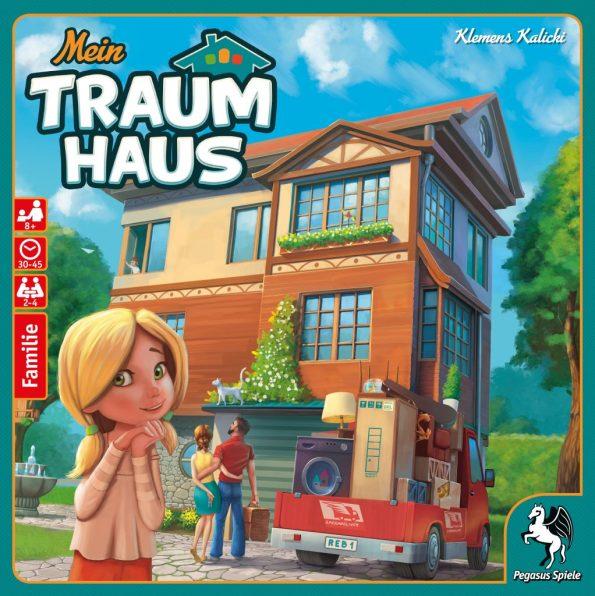 Cover von mein Traumhaus: Kleines Mädchen steht vor Haus, das gerade bezogen wird