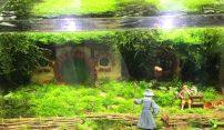 Ein Aquarium mit Gandalf, Bilbo und der Hobbithöhle als Schmuck