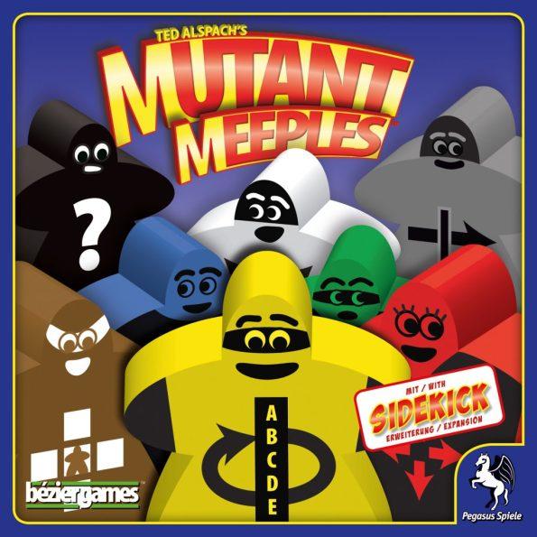 Cover von Mutant Meeples: viele bunte Superheldenmeeples