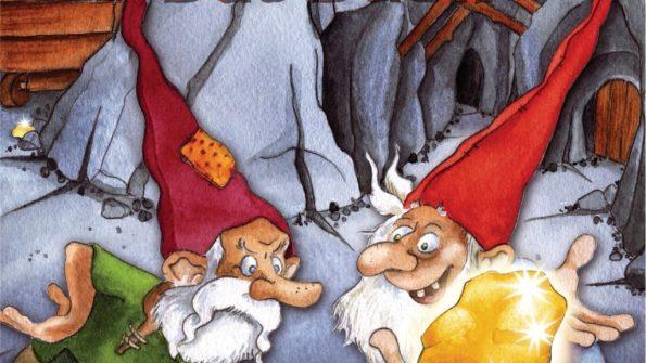 Cover von Saboteur - Das Duell: Zwei Zwerge schauen sich an, der eine hat Gold in der Hand | Bildquelle: Amigo