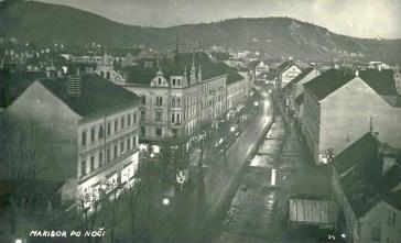 Sedanja Partizanska ponoči - leta 1935