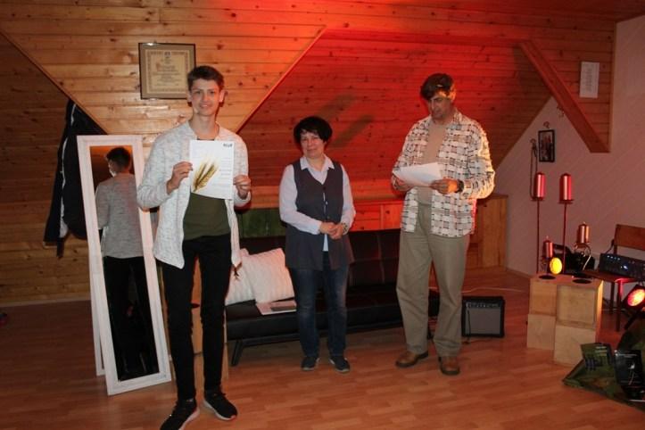 Nejc Novak poskrbel za zvočno kuliso zaključne prireditve, Slavka Zafošnik, predstavnica organizatorja KUD Matiček