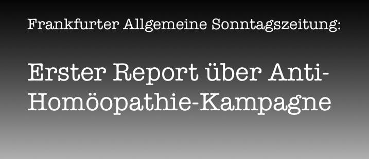 homöopathie frankfurter allgemeine sonntagszeitung