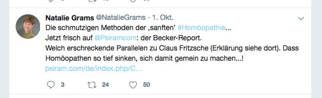 grams twitter Homöopathie fritzsche