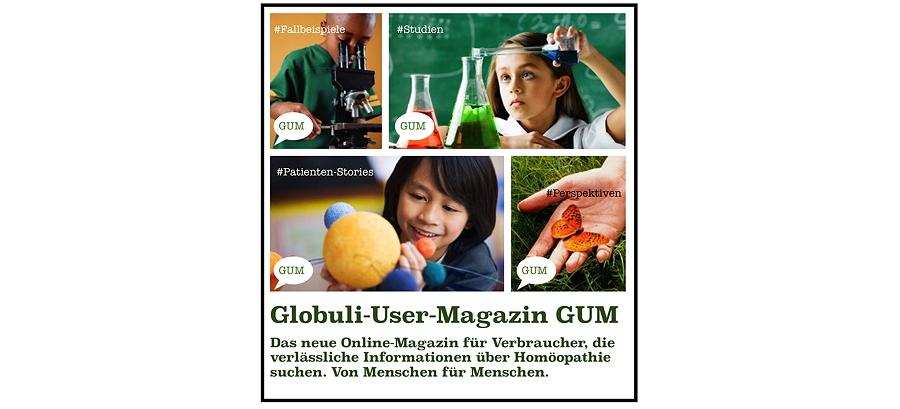 HomoeopathieWatchblog bekommt Nachwuchs: GLOBULI-USER-MAGAZIN - ein neues Verbraucher-Magazin von Globuli-Usern für Globuli-User