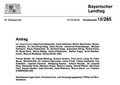 Antrag im bayr. Landtag: 42 CSU-Abgeordnete kämpfen für Homöopathie und Wahltarife gegen Jens Spahn / Erfolg für die Hahnemann-Gesellschaft