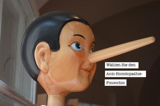 Wählen Sie Anti-Homöopathie-Pinocchio des Monats: Natalie Grams oder Bernd Kramer