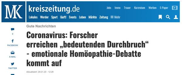homöopathie kreiszeitung
