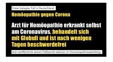 homöopathie corona
