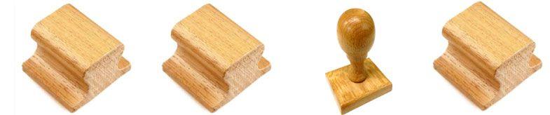 Sellos de madera para marcar ropa