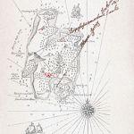 Χάρτης του νησιού των θησαυρών από την έκδοση του 1883 που φιλοτέχνησε ο Cassel.