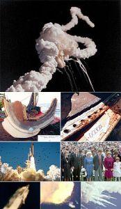 Φωτομοντάζ της καταστροφής του Challenger [Πηγή: NASA]