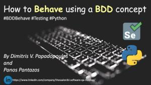 Behavior-Driven Development Testing for Python
