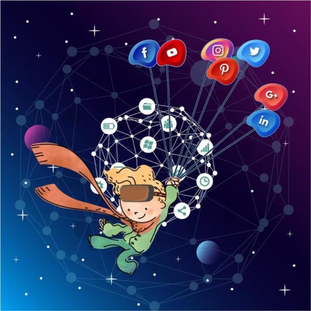 Αφίσα του 9ου Μαθητικού Φεστιβάλ Ψηφιακής Δημιουργίας