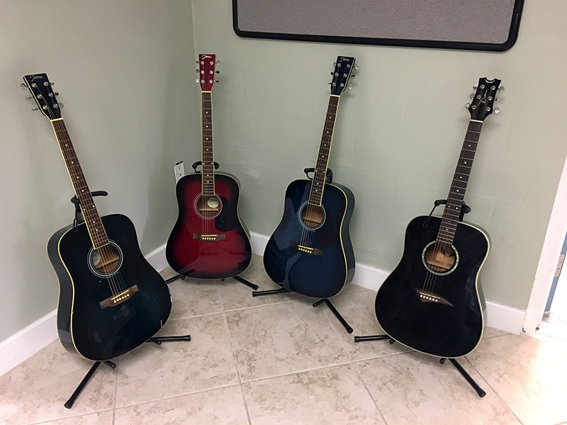donated guitars