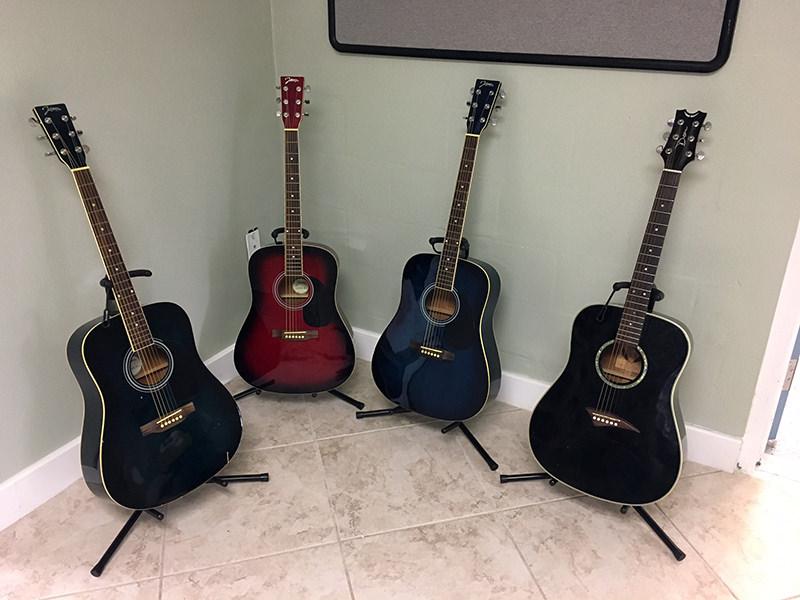 donated guitars