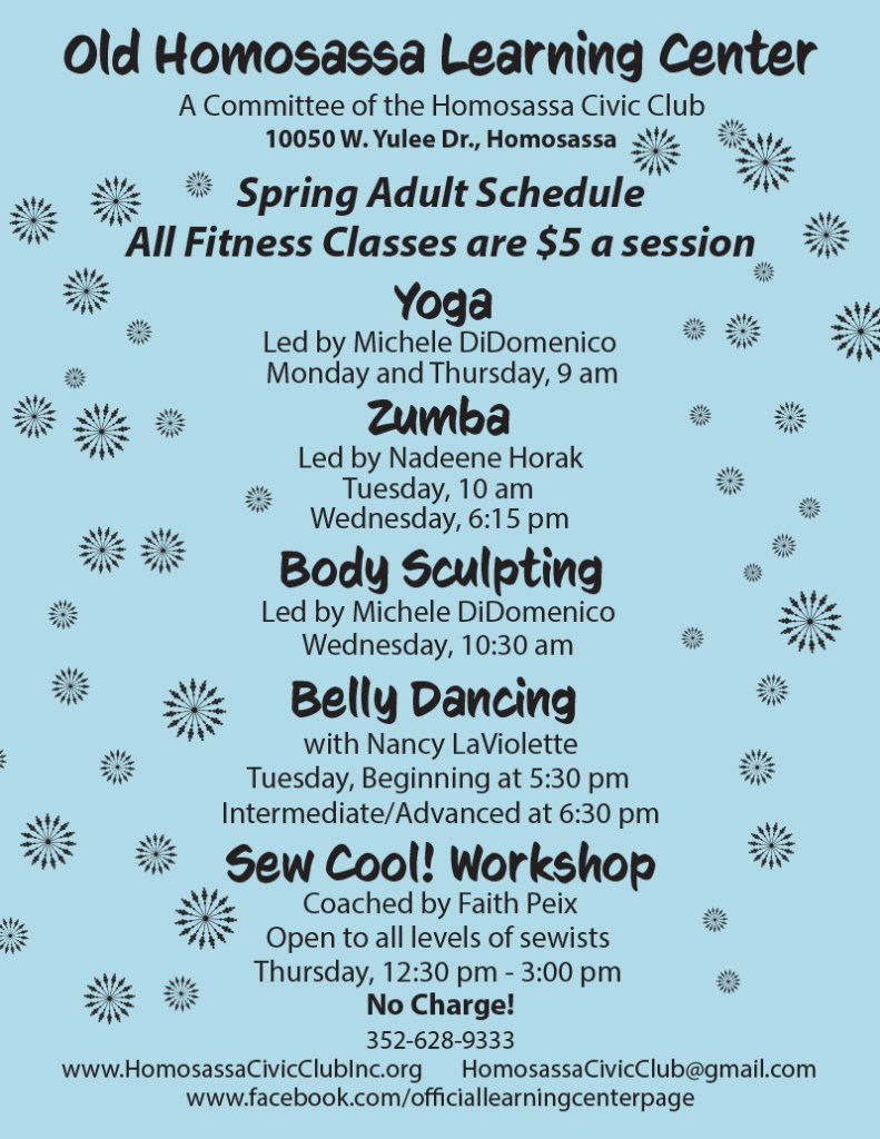 learning center fitness schedule