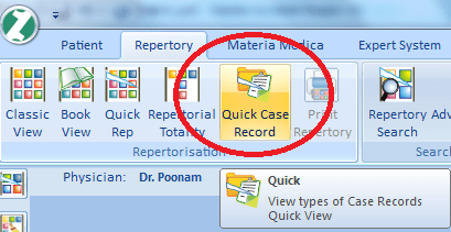 Quick Case Record