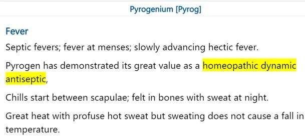 Homoeopathic dynamic antiseptic – Pyrog