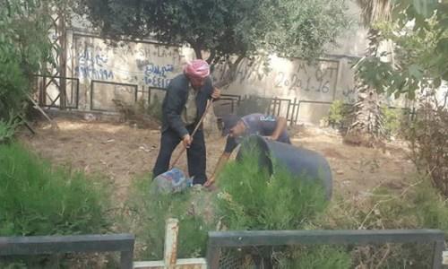 آخر أعمال مديرية الحدائق في أحياء المدينة