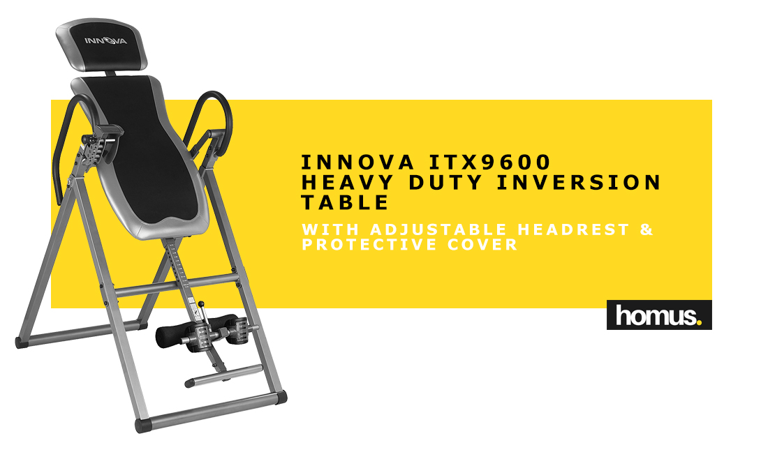 Innova ITX9600 Heavy Duty Inversion Table with Adjustable Headrest & Protective Cover copy