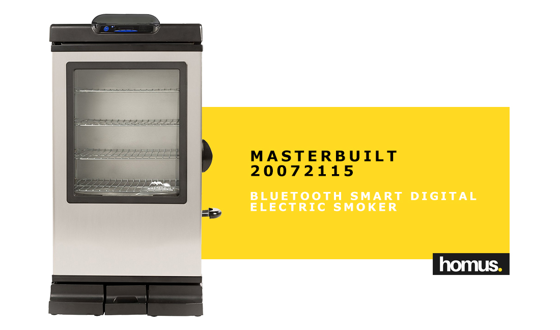 Masterbuilt 20072115 Bluetooth Smart Digital Electric Smoker