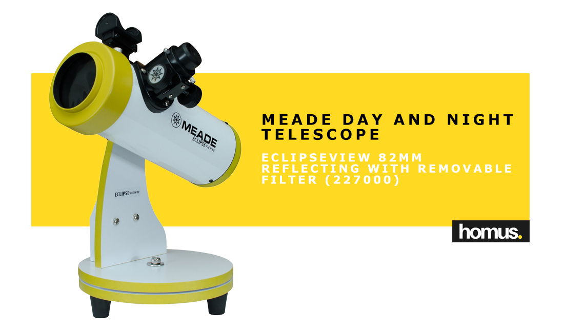 Meade Day and Night Telescope - EclipseView 82mm Reflecting with Removable Filter (227000)
