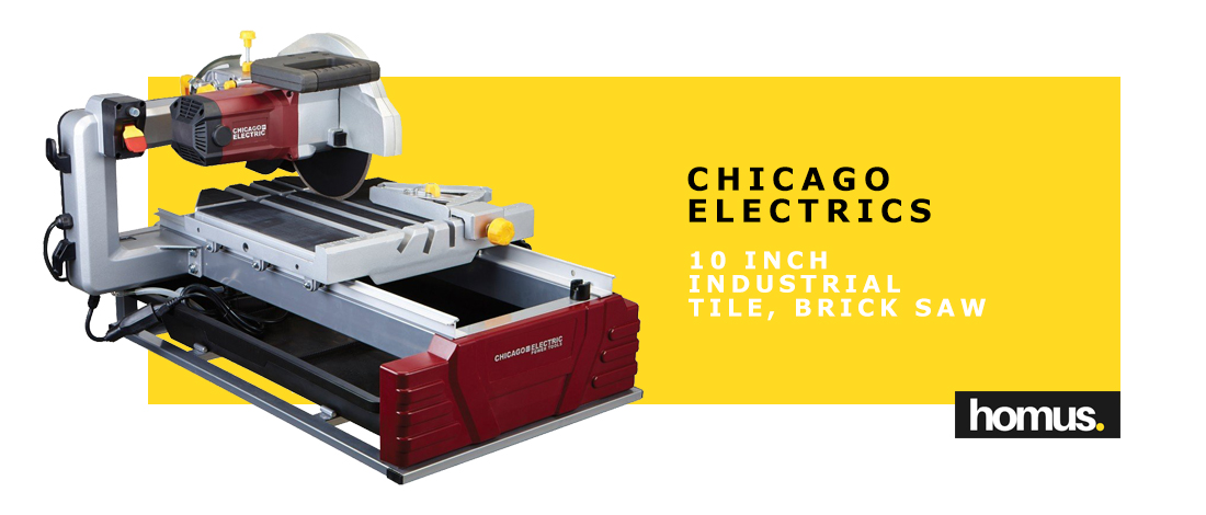 Chicago Pneumatics 10 Inch Industrial Tile, Brick Saw