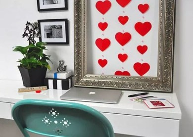 Beautiful Valentine Wall Decor And Color Ideas 08