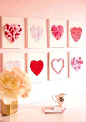 Beautiful Valentine Wall Decor And Color Ideas 18
