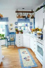 Inspiring Blue And White Kitchen Color Ideas 23