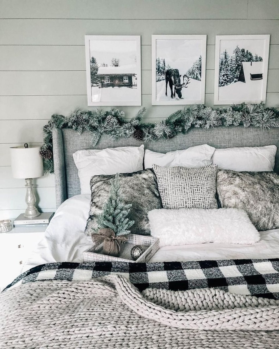 Lovely Winter Master Bedroom Decorations 32