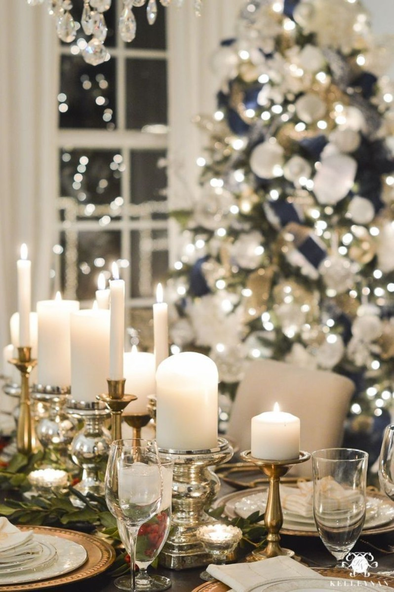 Winter Dining Room Decoration Ideas On Your Table 07