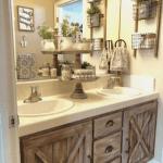 44 Affordable Farmhouse Bathroom Design Ideas Homyhomee