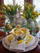 Amazing Bright And Colorful Easter Table Decoration Ideas 03