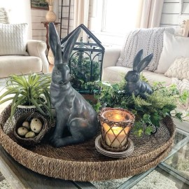 Amazing Bright And Colorful Easter Table Decoration Ideas 23