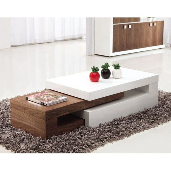 Awesome Wooden Coffee Table Design Ideas 29